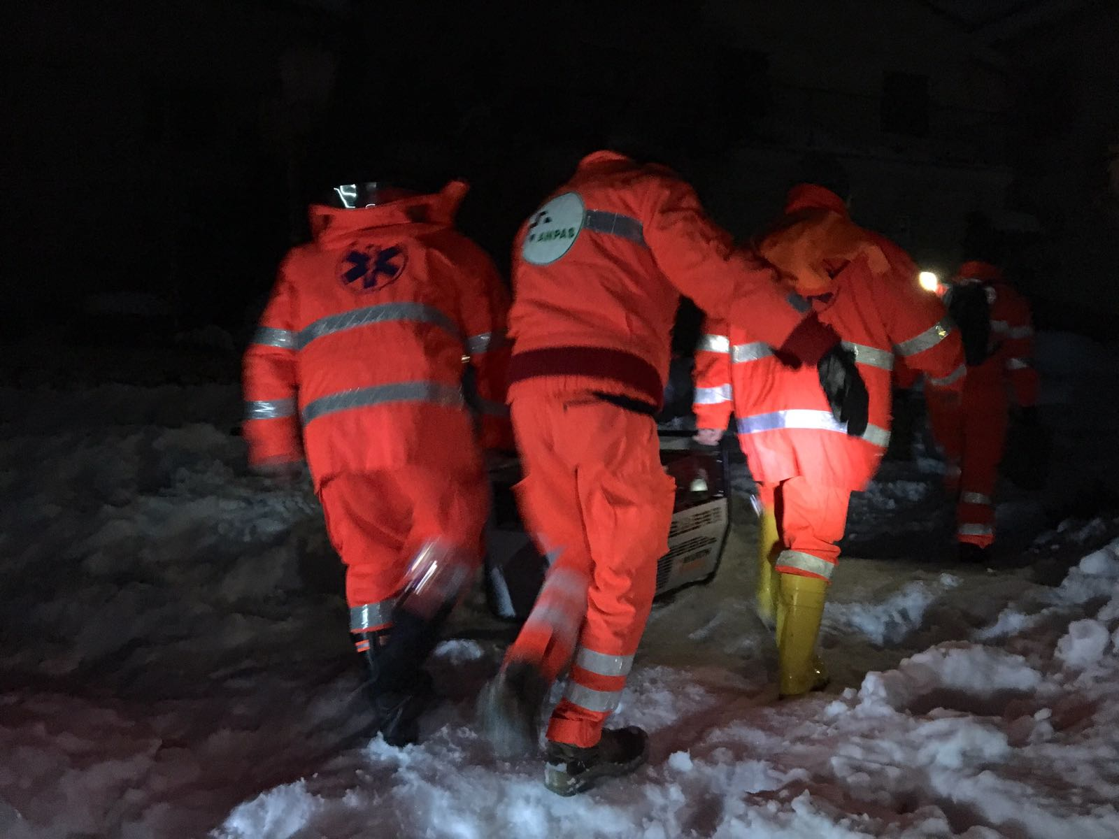 Emergenza Neve 2017 Pineto ANPAS